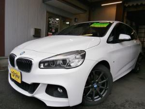BMW 2シリーズ 218iアクティブツアラー Mスポーツ Wエアバック ABS インテリキー 純正HDDナビ CD DVD Bカメラ ETC HID 純正アルミ i-STOP レーダーブレーキ S/Kエアバック