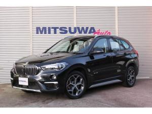 BMW X1 sDrive 18i xライン コンフォートアクセス・パークディスタンスコントロール・アクティブクルーズコントロール・Pアシスト・HUD・パワーゲート・黒ハーフレザー・シートH・純正18AW・2018yスタッドレス・Bカメラ・ETC