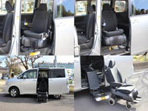 トヨタ ヴォクシー X Lエディション ウェルキャブ サイドリフトアップシート車 電動自操式 4WD セカンドシート左側リフトアップシート/ナビ/地デジ/バックカメラ/ETC/HIDヘッドライト/左リアパワースライドドア