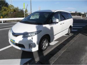 トヨタ エスティマハイブリッド X サイドリフトアップシート 左パワースライド 禁煙車