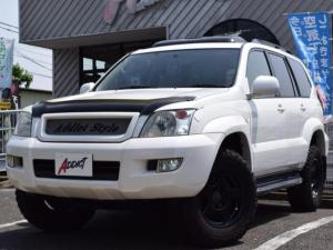 トヨタ ランドクルーザープラド TX サンルーフ LEDライト エルフォードアイライン バグガード 前後ドラレコ ガナドールマフラーブラッドレーVマッドブラックAW 背面タイヤレス