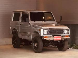 スズキ ジムニー ランドベンチャー 4WD 3インチ公認リフトアップ 社外マフラー タンクガード 前後社外バンパー 黒革調シートカバー E/gオーバーホール済み