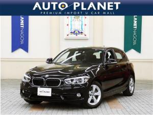 BMW 1シリーズ 118i スポーツ 禁煙車/衝突軽減システム/車線逸脱警告/純正HDDナビ/Bカメラ/ミラーETC/LEDヘッドライト/コンフォートアクセス/アルミ/CD/アイドリングストップ/サイサポート/クリアランスソナー/クルコン