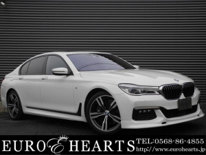 BMW 7シリーズ 750i Mスポーツ 左ハンドル サンルーフ 新品フロントスポイラー 黒革シート バウワース&ウィルキンス 純正オプションスタイリング648M20インチAW 全周囲カメラ アダプティブクルーズ 地デジTV シートエアコン