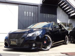 トヨタ クラウンハイブリッド アスリートS SR黒革HDDJ-unitエアロ車高調20AW