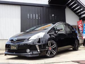 トヨタ プリウスアルファ S 新品黒革調BIGxエアロ18AWヘッドHIDフォグLED