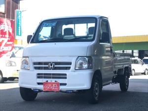 ホンダ アクティトラック ベースグレード 5速マニュアル 4WD タイヤ4本新品 純正ラジオ 作業灯 三方開 軽トラック