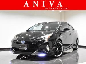 トヨタ プリウス Aプレミアム 黒革 Bluetooth 新品19AW エアロ