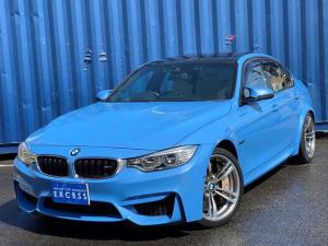 BMW M3 M3 純正ナビ・フルセグ・Bカメラ・フォーカルスピーカー・ヘリックスオーディオ・ホワイトレザー・Mカーボンブレーキ・カーボンルーフ・Mサスペンション・パドルシフト・カーボンインテリア・LEDヘッド・19AW
