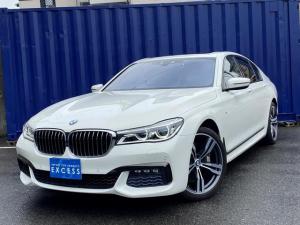 BMW 7シリーズ 750i Mスポーツ 純正ナビ・地デジ・トップビューカメラ・ブラックレザー・サンルーフ・パドルシフト・ハーマンカードン・インテリジェントセーフティ・前後ドラレコ・HUD・コンフォートアクセス・ETC