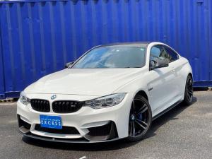BMW M4 M4クーペ Mパフォーマンスエディション 日本17台限定・Mパフォーマンスエクステリア・純正ナビ・地デジ・TVキャンセラー・Bカメラ・レッドレザー・パドルシフト・ドライブアシスト・カーボンルーフ・毎年記録簿あり