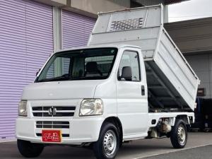 ホンダ アクティトラック ダンプ 5速マニュアル 4WD 純正ラジオ エアコン パワーステアリング 軽ダンプトラック