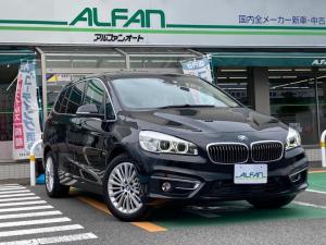 BMW 2シリーズ 218iグランツアラー ラグジュアリー スマートキー 本革シート バックモニター ナビ ETC ドラレコ前後 電動トランクゲート 7人乗り