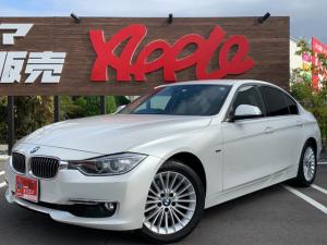 BMW 3シリーズ 320iラグジュアリー ワンオーナー/禁煙車/純正ナビ/フルセグTV/黒レザーシート/ETC/パールホワイト/