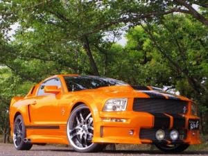 フォード マスタング V6 エレノアカスタム 22アルミ
