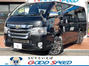 トヨタ ハイエースバン スーパーGL DARKPRIME アルパイン11インチSDナビ 両側電動スライドドア 社外16インチAW LEDヘッドライト ETC