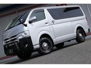 トヨタ ハイエースバン DX GLパッケージ 2.8リッターディーゼル 4WD 制振断熱処理済み リフトアップ エナペタルショック グッドリッチ16インチ 純正ナビ ETC2.0 セーフティセンス ギブソンサイドパネル 1ナンバー公認