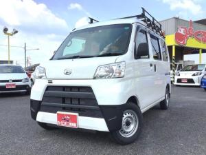 ダイハツ ハイゼットカーゴ DX SAIII アイドリングストップ スマートアシスト3 ルーフキャリア 4WD