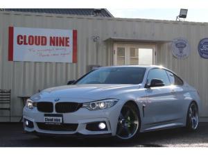 BMW 4シリーズ 420iクーペ Mスポーツ 記録簿付き 3DデザインFスポイラー NEXT INOVATION S&Rカーボンスポイラー MKモータースポーツ19インチAW ビルシュタインローダウン 4本出しマフラー カスタムパーツ 当社下取車