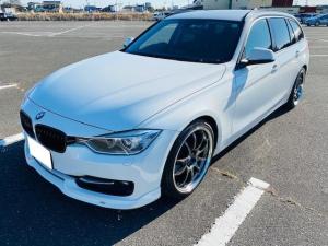BMW 3シリーズ 320iツーリング スポーツ DOHCターボ コンフォートアクセス 純正HDDナビ バックカメラ ACSCHNITZERエアロ ローダウン ADVAN Racing19インチアルミ パドルシフト HID パワーシート