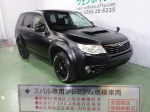 スバル フォレスター 2.0XT 色替車 マットブラック ブラック16AW HDDナビ 地デジTV HID ETC キーレス シートヒーター