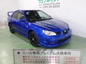 スバル インプレッサ 1.5i 色替車 WRブルーパール Fエアロリップ  STI大型ウイング ブラック17AW CD ETC キーレス
