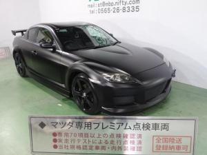 マツダ RX-8 ベースグレード 色替車 マットブラック MSフルエアロ 大型ウイング ブラック18インチAW DVDナビ HID CD  ETC キーレス