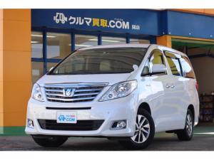 トヨタ アルファードハイブリッド X 地元ユーザー買取り車/4本新品タイヤ/両側電動ドア/フリップダウンモニタ-/HDDナビ/バックカメラ/BT Audio/フルセグTV/ドラレコ/ETC