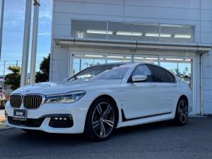 BMW 7シリーズ 740eアイパフォーマンス Mスポーツ 当社下取ワンオーナー車・黒革シート・シートヒーター・シートエアコン・電動シート・純正20インチアルミ・LEDヘッドランプ・ヘッドアップディスプレイ・アクティブクルーズ・全方位カメラ・TV・CD