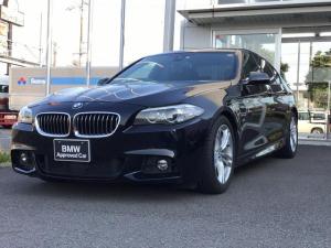 BMW 5シリーズ 523d Mスポーツ 下取ワンオーナー車・HIDヘッドライト・スポーツシート・電動シート・アクティブクルーズコントロール・純正18インチアルミ・TVチューナー・CD・ミラーETC・バックカメラ