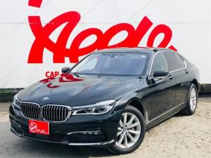 BMW 7シリーズ 740i ユーザー買取車 サンルーフ シートヒーター 黒革シート シートエアコン パワーシート 純正HDDナビ 全方位カメラ 電動リアゲート 社外ドライブレコーダー ランフラット ETC