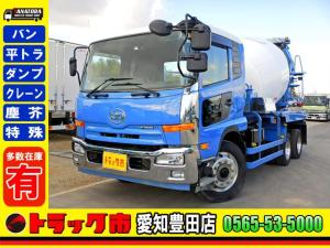 UDトラックス コンドル コンクリートミキサー車 増トン 8.9立米 ツーデフ 6MT