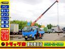 いすゞ/エルフトラック 3段クレーン 平 2t フックイン 荷台鉄板張り 5MT