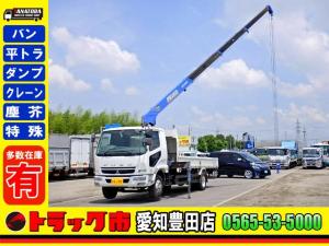 三菱ふそう ファイター  平ボディー 4段クレーン 増トン ラジコン ベット 7.8t 大型 6T