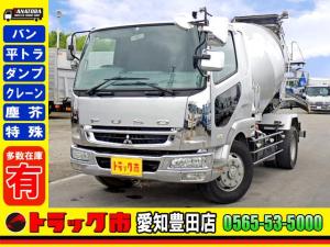 三菱ふそう ファイター  コンクリートミキサー車 増トン 電動ホッパーカバー 大型 ベット 7.36t 6MT
