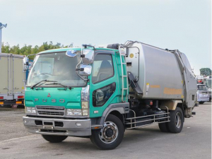 三菱ふそう ファイター  増トン 8.5立米 プレス式パッカー車 ベッド 塵芥車 計量器付き