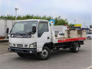 いすゞ エルフトラック  3トン 一般仕様 セーフティローダー 積載車 セルフローダー 古河 ウインチ付 内フック