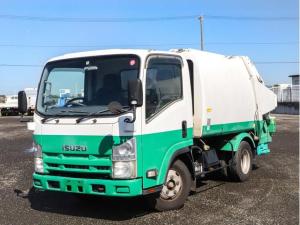 いすゞ エルフトラック  2トン プレスパッカー車 4.3立米 塵芥車 極東開発 3段切換スイッチ 連続スイッチ