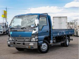 いすゞ エルフトラック  カスタム 4トン ワイドロング 平ボディ 6MT 高床 平 平ボデー