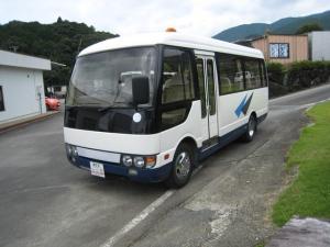 三菱ふそう ローザ NOX適合バス送迎仕様バス自動ドア自動ステップモケットシート