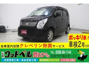 スズキ ワゴンR FXリミテッド ナビ ワンセグ CD DVD スマートキー プッシュスタート ETC Goo保証1年・車検整備付