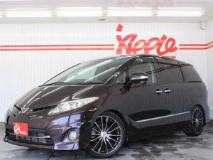 トヨタ エスティマ 2.4アエラス 20thアニバーサリーエディション TEIN車高調 19インチルミ メーカーOPナビ フルセグ バックカメラ 半革シート 電動スライドドア 7人乗り