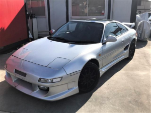 トヨタ MR2 GT Tバールーフ 最終モデルターボ BOMEXフルエアロ ローダウン TRDマフラー WORKエモーション11Rホイール F7J R9J