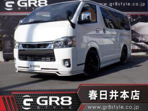 トヨタ ハイエースバン スーパーGL ダークプライムII 新型モデル/GR8 SSSエアロ/17inAW/SDナビTV/Bluetooth/DVD再生/2inローダウン/両側パワスラ/トヨタセーフティセンス/LEDヘッドライト/スマートキー/ベッドキット