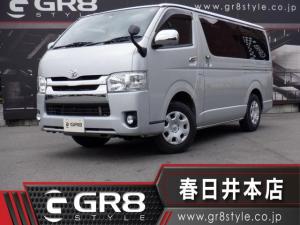 トヨタ ハイエースバン ロングスーパーGL ディーゼル4WD/SDナビTV/Bluetooth/DVD再生/ETC/Wエアバック/新品ベッドキット/キーレス/ABS