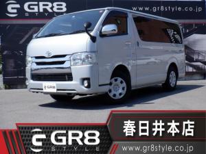 トヨタ ハイエースバン ロングスーパーGL SDナビTV/Bluetooth/CD再生/バックカメラ/ETC/AC100V電源/キーレス