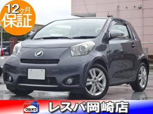 トヨタ iQ 130G MT→(ゴー) 6速MT 地デジ付きナビ ETC ウィンカーミラー レベライザー サイドバイザー CD キーレス Wエアバッグ ABS