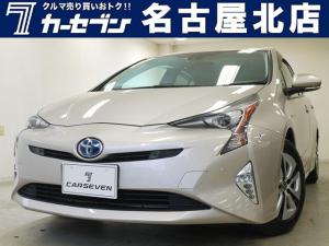 トヨタ プリウス A 新品タイヤ/クルコン/衝突軽減ブレーキ/レーンアシスト/フルセグ/Bluetooth/バックカメラ/LEDヘッドライト/パークアシスト/クリアランスソナー