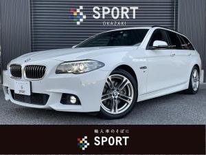 BMW 5シリーズ 523d M Sport アクティブクルーズ インテリジェントセーフティ 純正HDDナビ フルセグTV パワーバックドア パワーシート シートメモリー HIDヘッドライト Bluetooth DVD CD ETC 純正アルミ