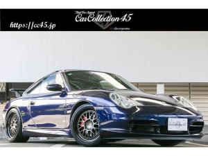 ポルシェ 911 911カレラ4 正規D車 後期モデル ラピスブルー色 GT3カップエアロキット/リアウイング デジテックECUチューニング 18インチAW レッドキャリパー ダークブルーレザーインテリア バックカメラ サンルーフ